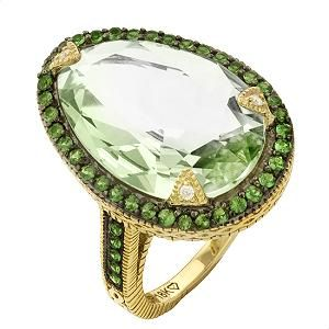 Judith Ripka Capri Two Toned Cluster Ring My jewelers known to