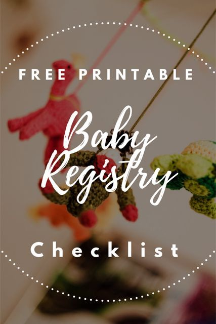Download our FREE printable Baby Registry Checklist! Includes items - baby registry checklists