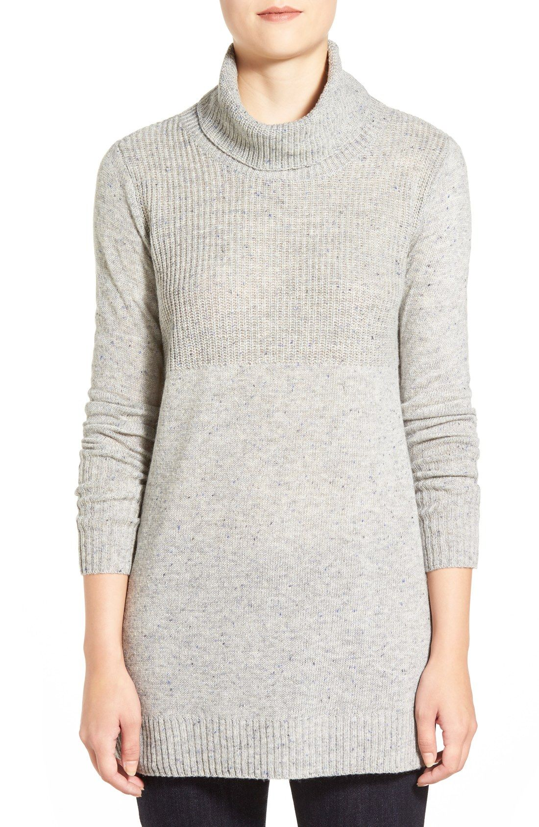 Caslon® Turtleneck Tunic Sweater (Regular & Petite) | Christmas ...