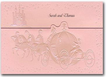 CinderellaandPrincePinkFairytaleWeddingInvitepng 367264