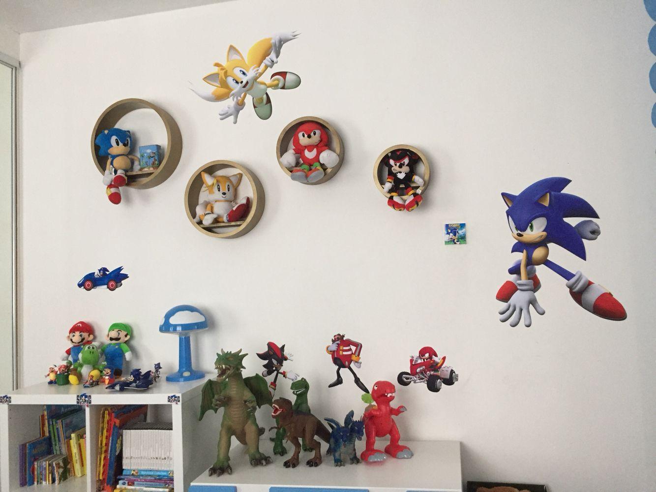 Sonic Bedroom. Sonic Ring Shelves
