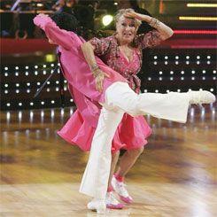 DWTS Season 7 Fall 2008 Cloris Leachman and Corky Ballas