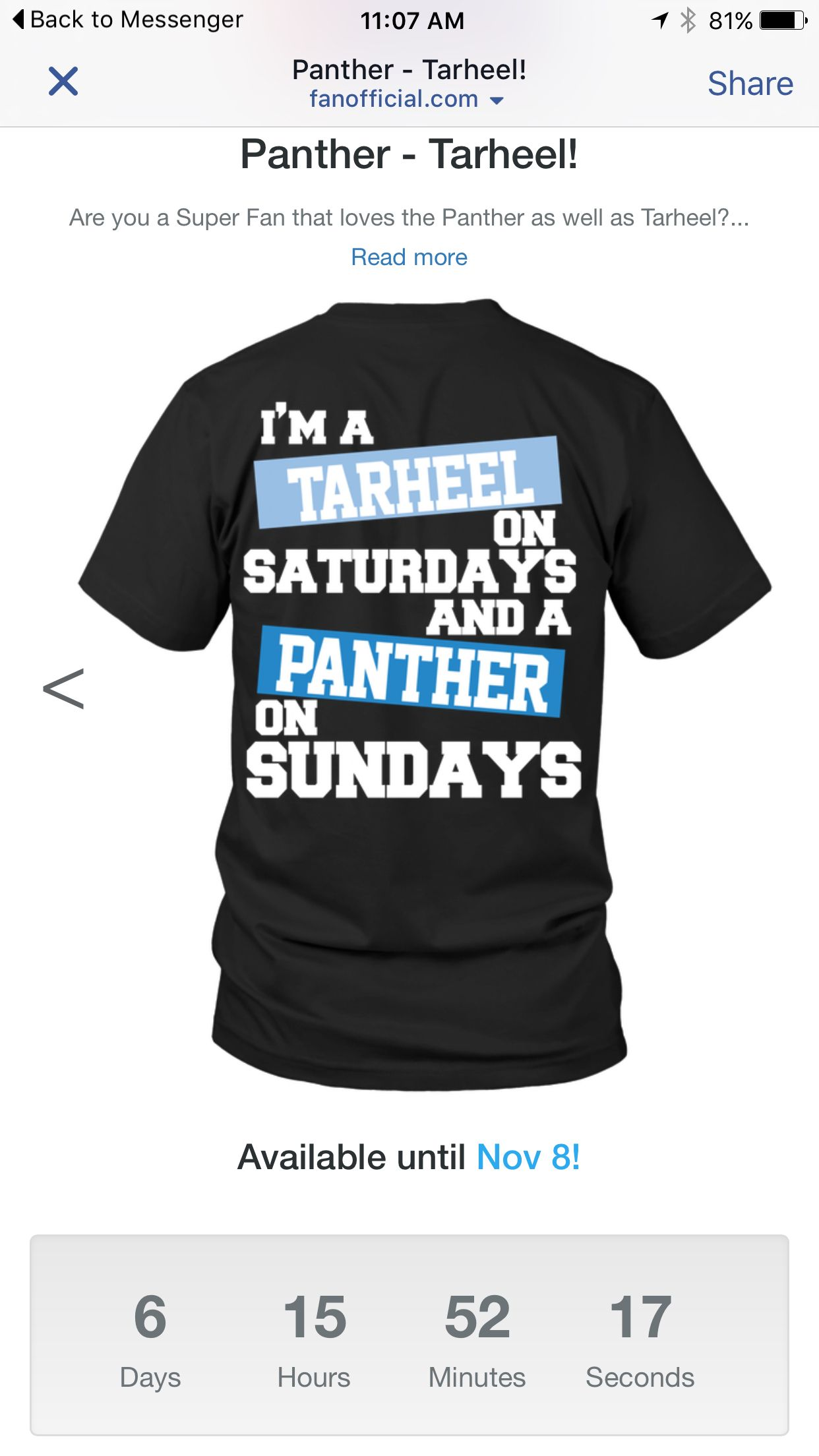 Carolina Tar Heels and Carolina Panthers shirt Available on  http   shop. d20d39a18