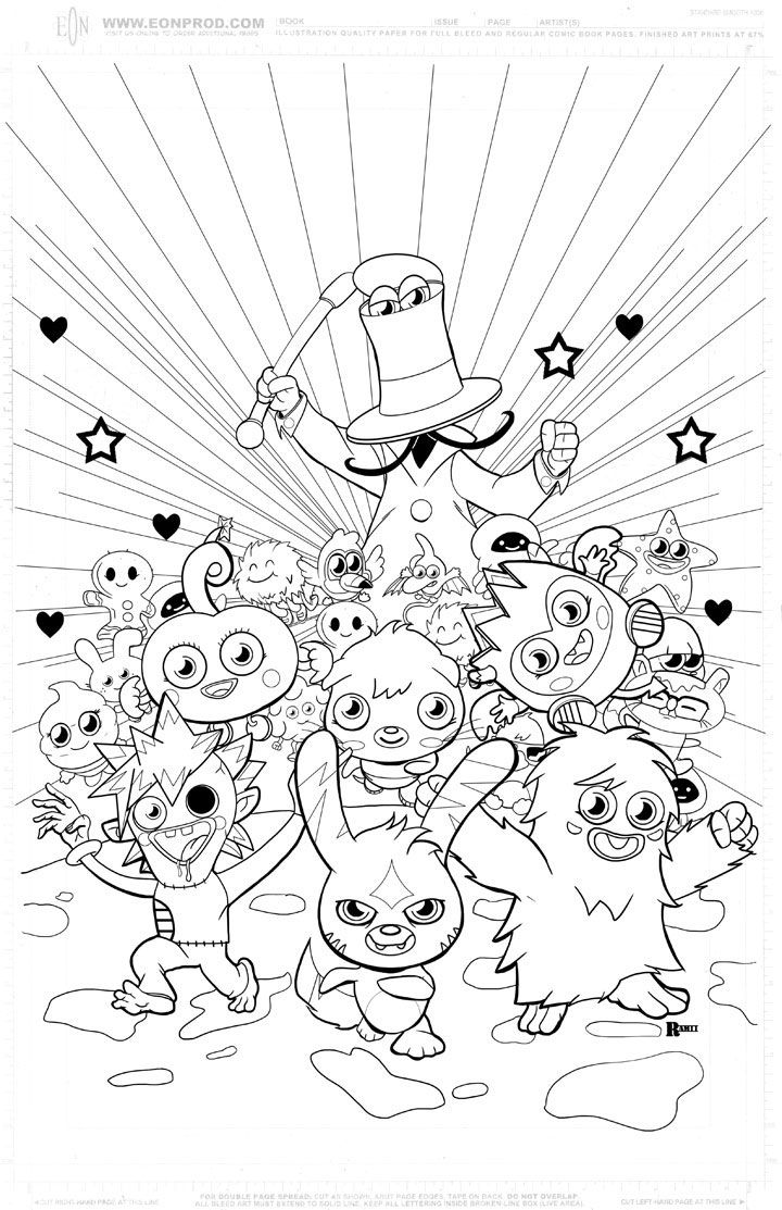 moshi monsters coloring in pages google - Moshi Monsters Coloring Pages