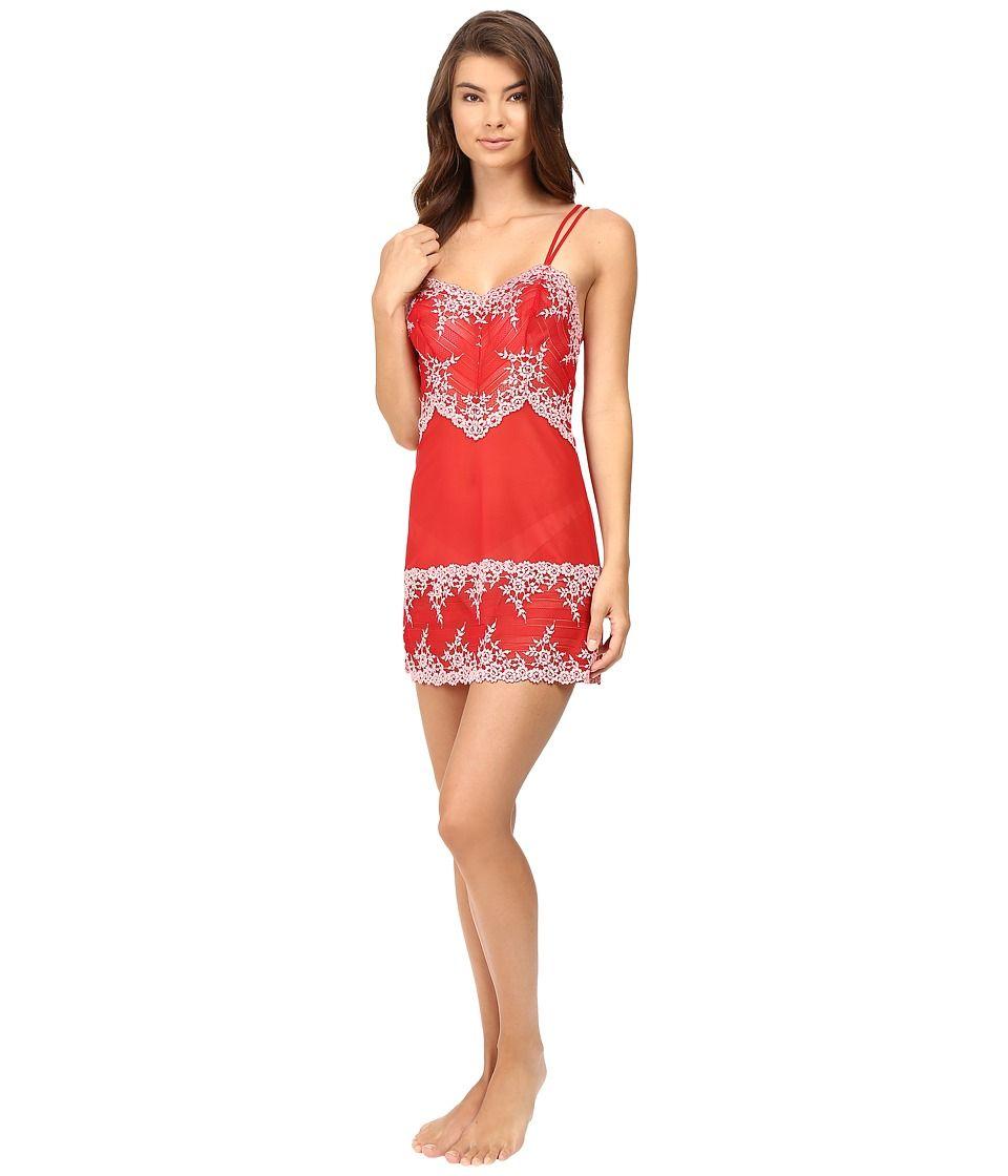 de0b5f9140 WACOAL WACOAL - EMBRACE LACE CHEMISE (TANGO RED CORAL BLUSH) WOMEN S  LINGERIE.  wacoal  cloth