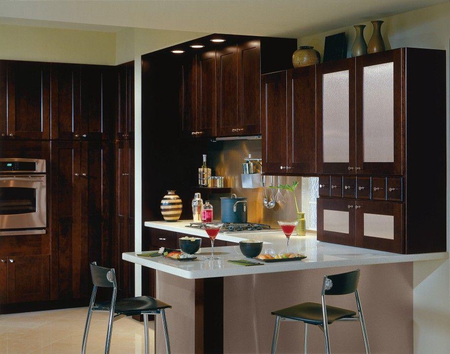 Best Eden Cherry Coffee Kitchen By Thomasville Cabinetry 400 x 300