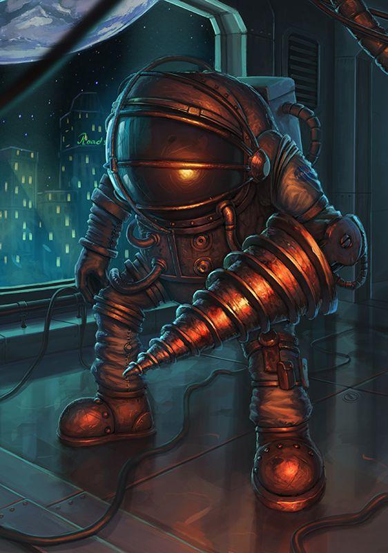 Bioshock Big Daddy by MasterofConcept on DeviantArt