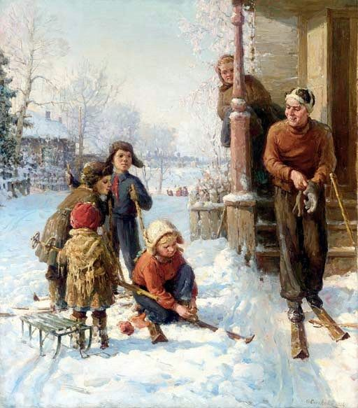 Snow Day by Fedot Vasilievich Sychkov (1870-1958), Russian