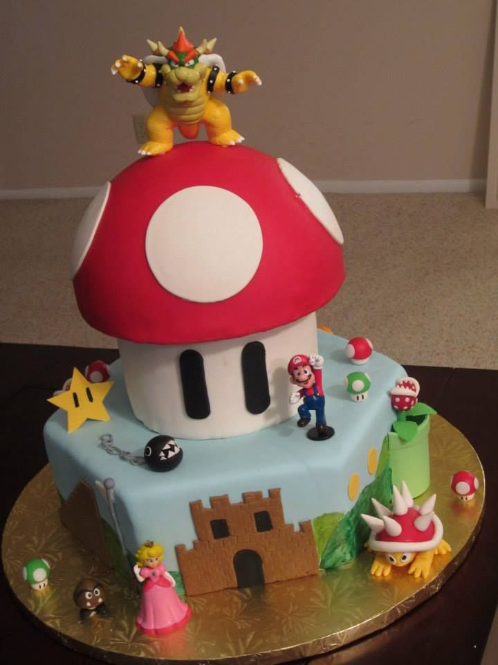 J's Cakes: Super Mario Bros. Birthday Cake