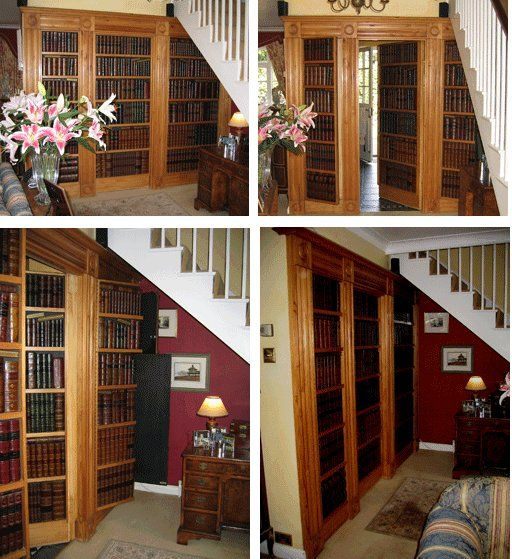 Secure Your Getaway If You Hear Creepers In Home Secret Room Behind Bookshelf Leads To Another Entrance Exit From The