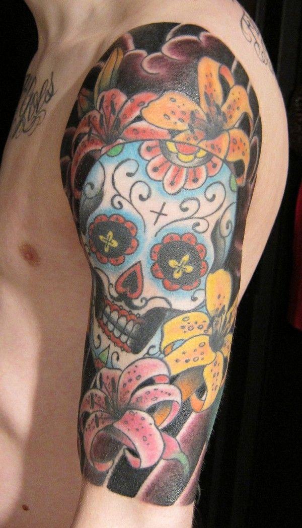 72 Beautiful Sugar Skull Tattoos with Images Skull