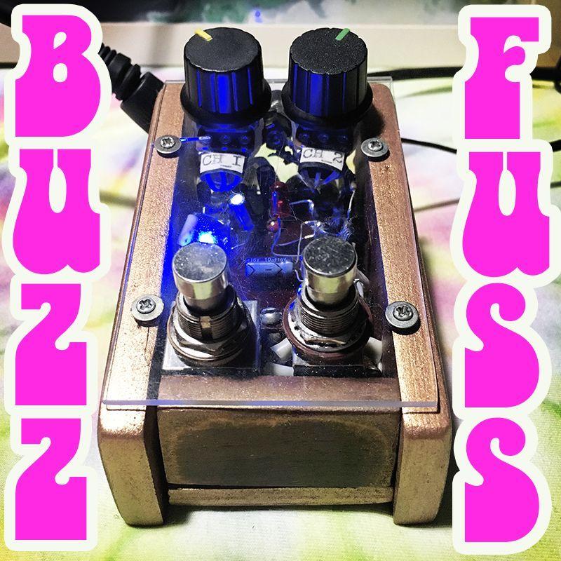 Buzz Fuss DIY bass guitar pedal #guitarpedals diy bass fuzz . wood case . 2 channel guitar boost / overdrive pedal #guitarpedals