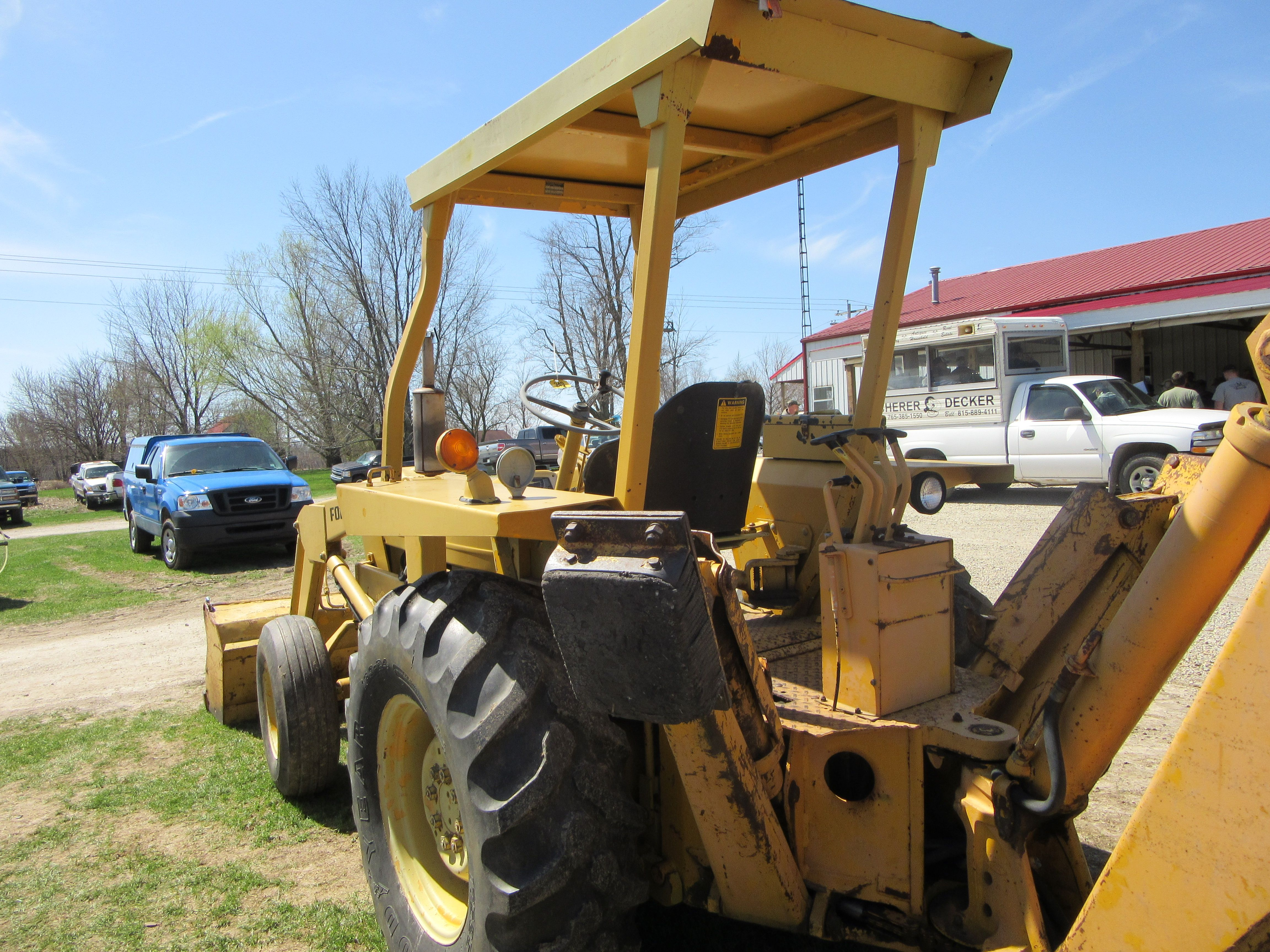 Ford 3550 Tractor Loader Backhoe From The Rear Ford Tractors