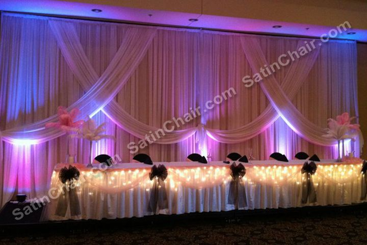 quinceanera head table decorations Rent a Winter Wonderland