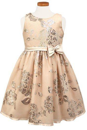 b44839343db Toddler Girl s Sorbet Sequin Floral Fit   Flare Dress