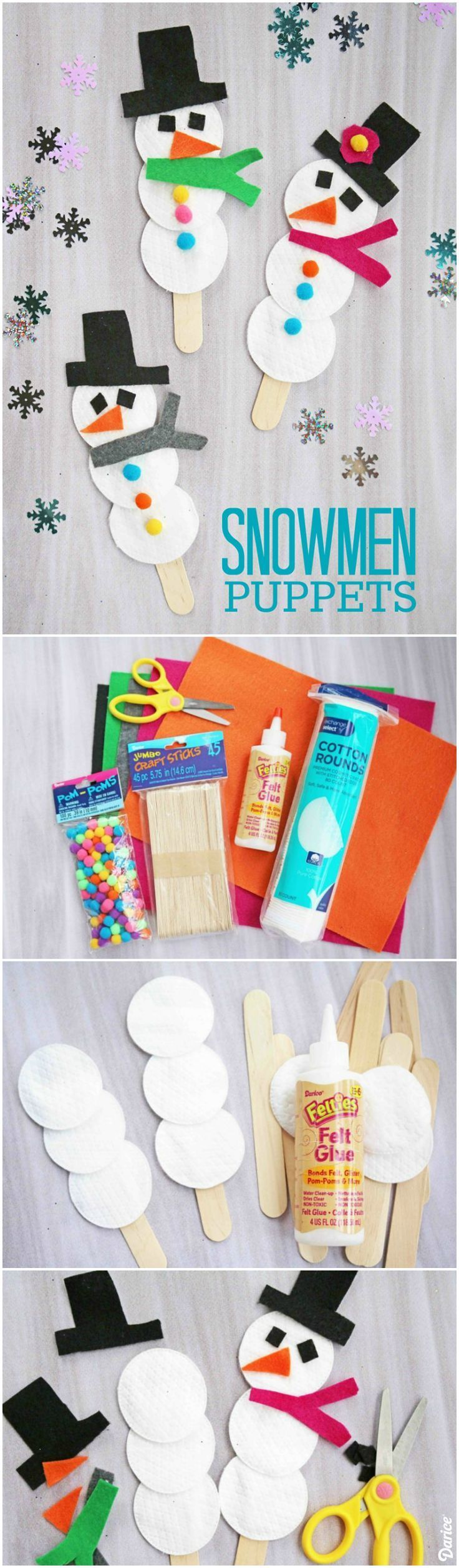 Photo of Snowman Puppet Easy Winter Craft for Kids – Darice
