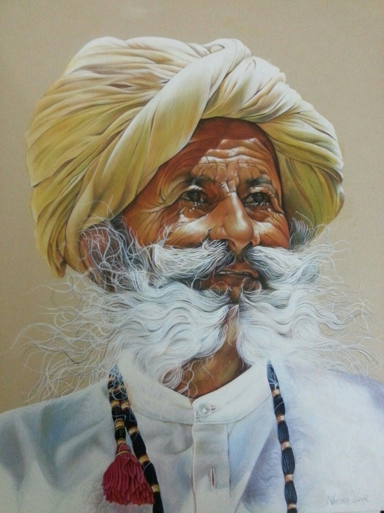 Portrait In Poster Colours Poster Color Painting Potrait