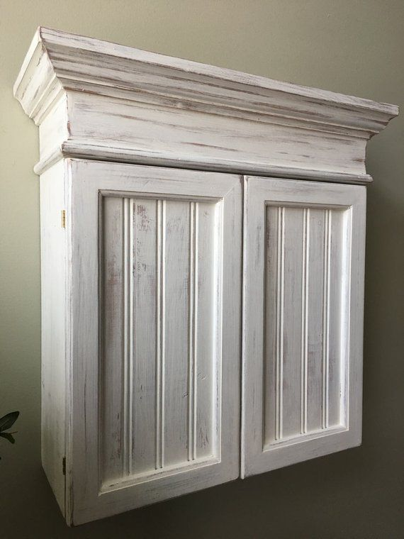 distressed white cabinet bathroom cabinet kitchen on wall cabinets id=95349