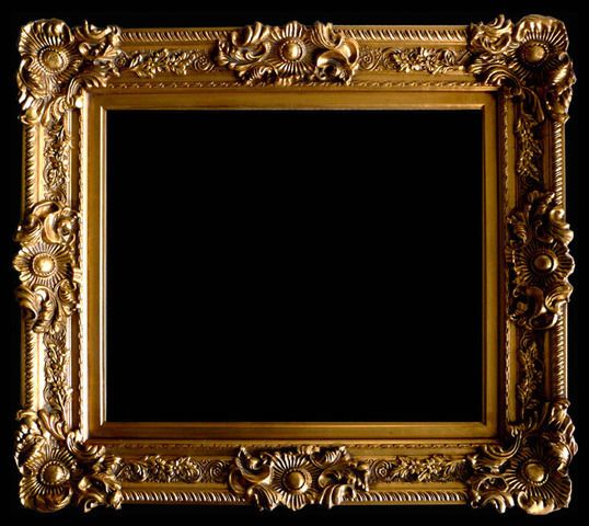 wood picture frame ornate antique gold 24 x 36 moulding wide 5 12
