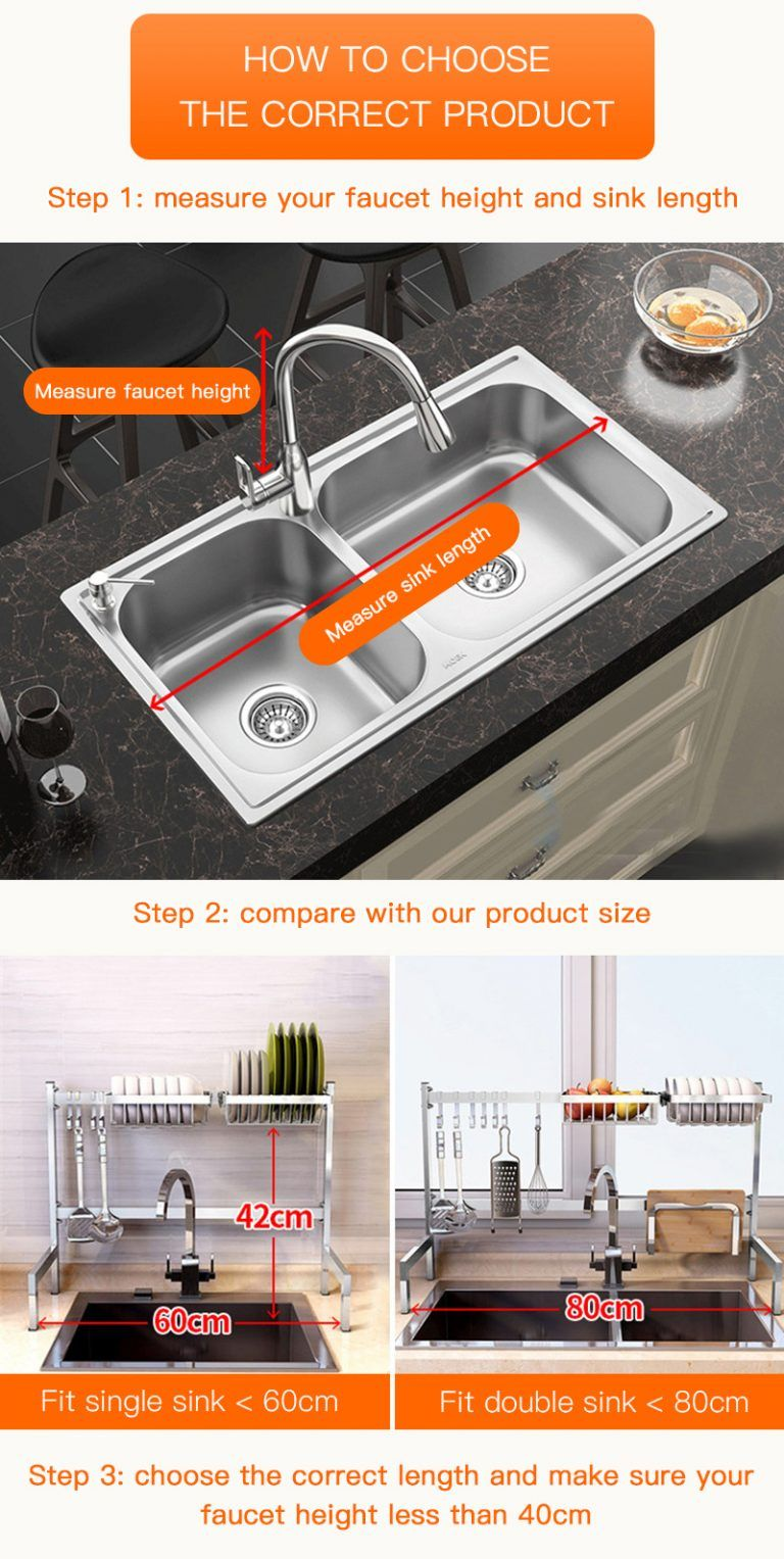 RackShack™ Over The Sink Dish Drying Rack - Dish Rack #dishracks