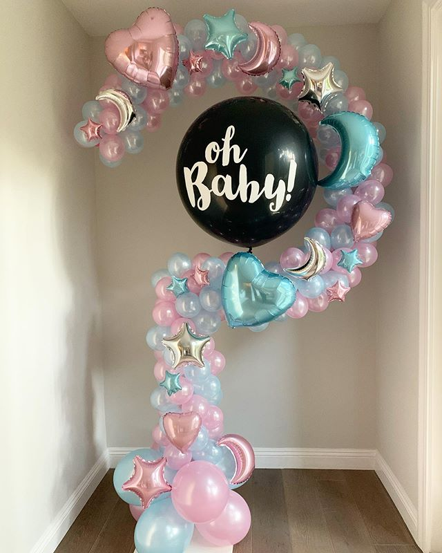 Streamers N Balloons On Instagram We Have A Question For You Gender Reveal Decorations Gender Reveal Party Decorations Baby Gender Reveal Party Decorations