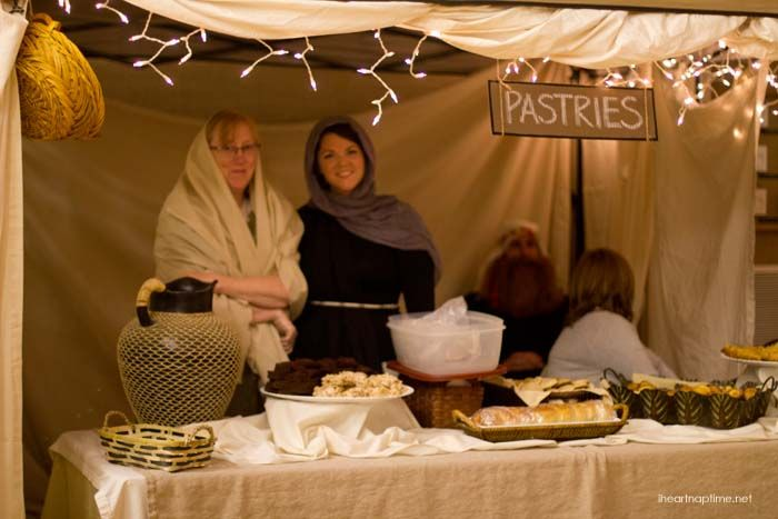Lds Ward Christmas Party Program Ideas Part - 42: A Night In Bethlehem - Market Tent Ideas