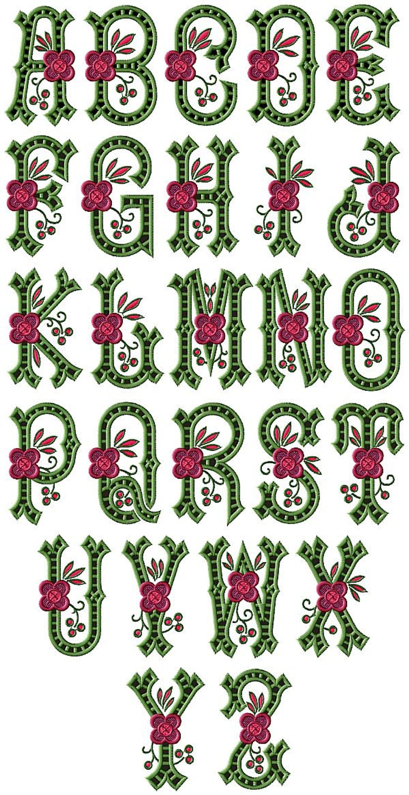 Country Charm Cutwork Alphabet 26 Machine Embroidery Letters Etsy 2021 刺繍フォント 機械刺繍デザイン 刺繡柄