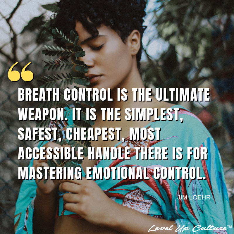 """""""The key to emotional control is breath control. Breath control is the ultimate weapon. It is the simplest, safest, cheapest, most accessible handle there is for mastering emotional control, for recharging the Ideal Performance State in response to problems, for staying in control, for becoming a peak performer. Breath control is the force that leads to the emotional control that leads to the winning feat."""" - Jim Loehr, author of Breathe In, Breathe Out  """"The key to emotional control is br #emotionalcontrol"""