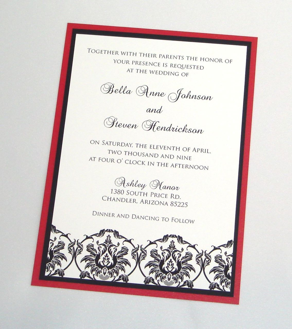 17 Best images about Wedding Invitations – Black Red and White Wedding Invitations