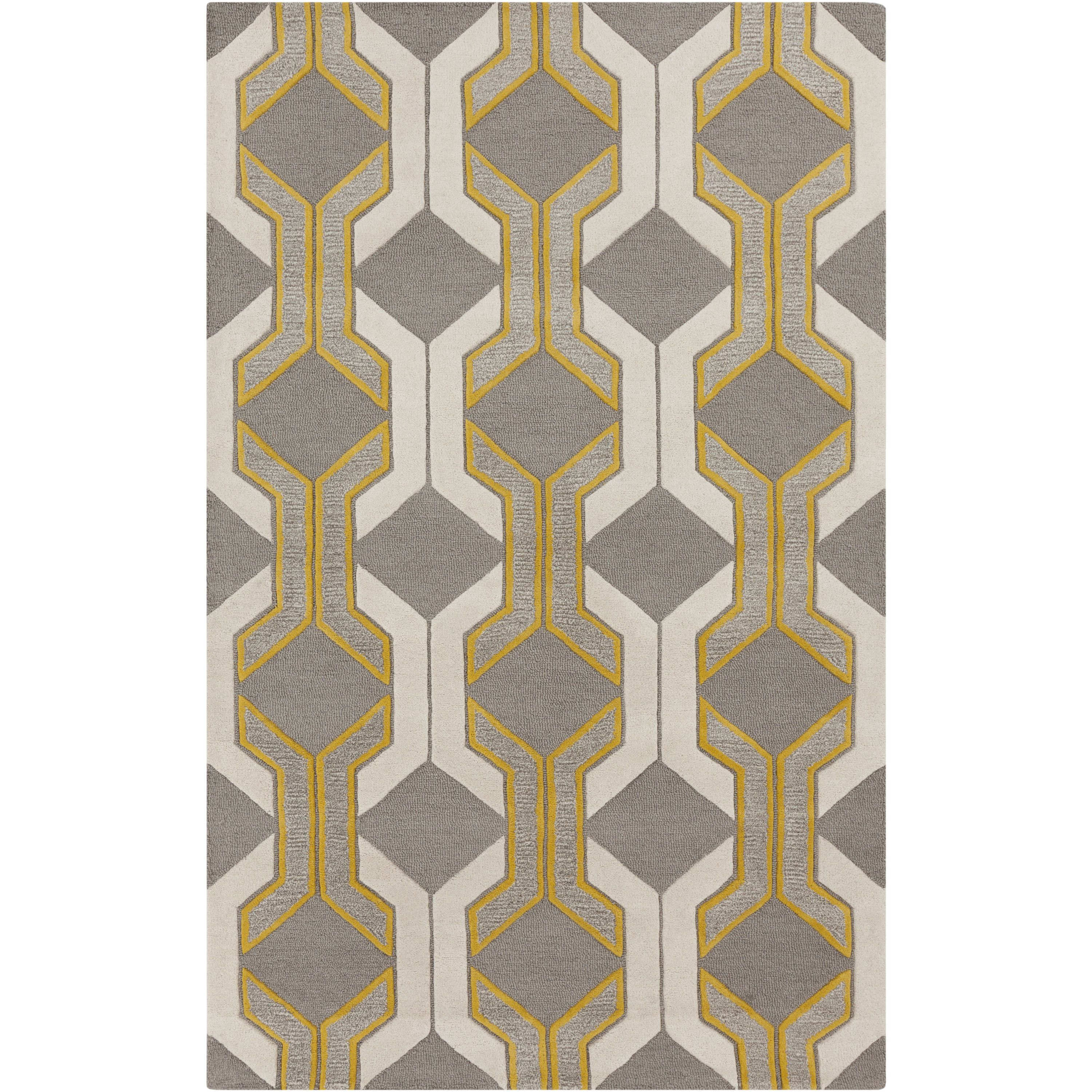 Hand Tufted Gregory Chain Link Wool Area Rug X