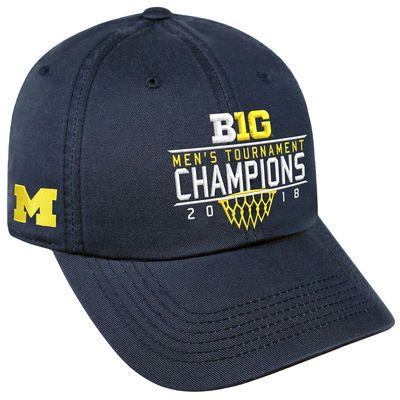 e1473a58a25 Men s Top of the World Navy Michigan Wolverines 2018 Big Ten Men s  Basketball Conference Tournament Champions