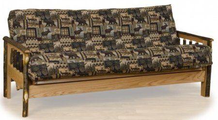 Futon Rustic Log Furniture Leather