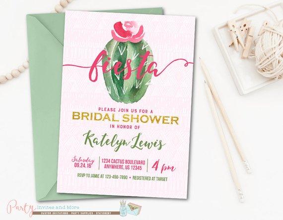 fiesta bridal shower invitation bridal shower invitation cactus bridal shower invitation fiesta i