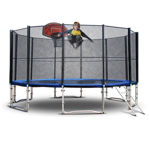 Details About NEW 12ft Round Trampoline FREE Basketball