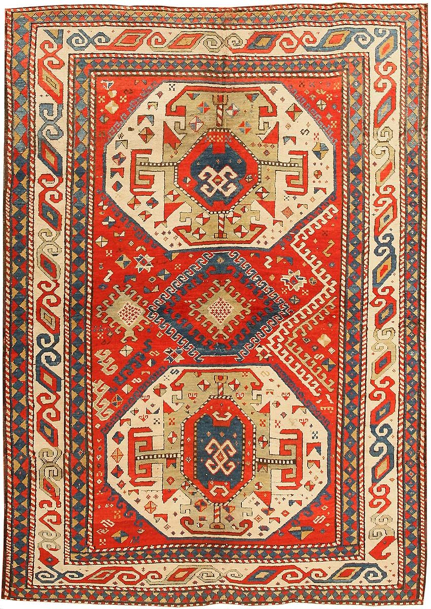 Antique Kazak Caucasian Rug 43276 Main Image By Nazmiyal