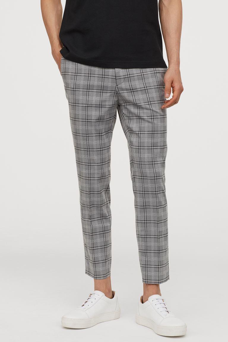 Skinny Fit Suit Pants Black White Plaid Men H M Us Skinny Fit Suits Skinny Fit Suit Pants Pantsuit [ 1152 x 768 Pixel ]