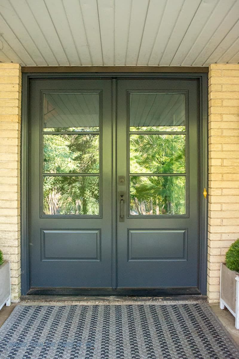 What Double Front Doors With Gl Cost Before And After Porch Makeover New