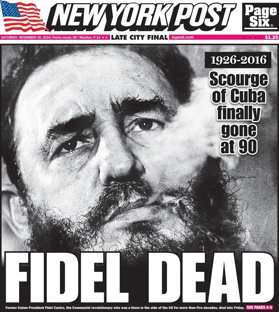 'The old man is dead': Fidel Castro's death sparks celebrations on streets of Miami #cubanleader Contrasting reactions to the death of Cuban leader as world leaders pay tribute to an an 'iconic revolutionary leader' #cubanleader 'The old man is dead': Fidel Castro's death sparks celebrations on streets of Miami #cubanleader Contrasting reactions to the death of Cuban leader as world leaders pay tribute to an an 'iconic revolutionary leader' #cubanleader