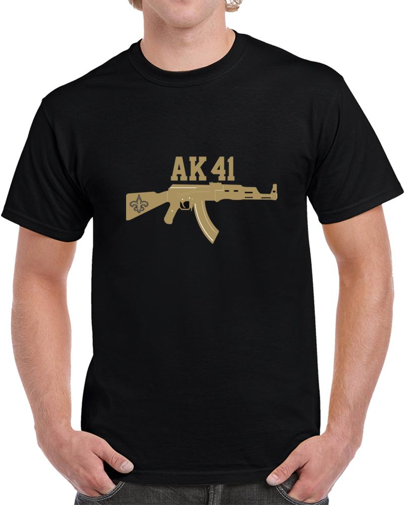 buy online e874b 6706b Alvin Kamara New Orleans Ak41 Running Back Football T Shirt ...