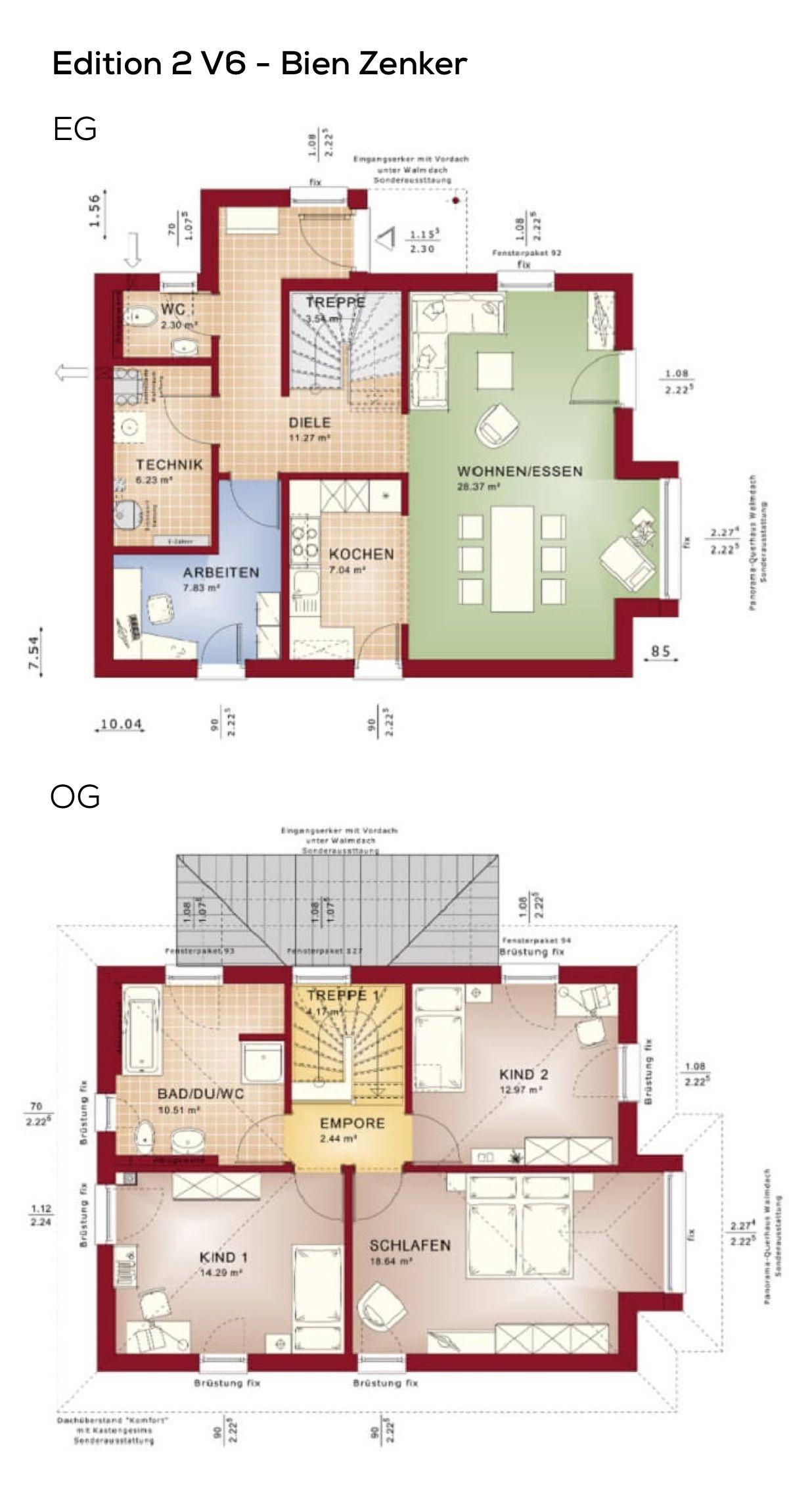 Grundriss einfamilienhaus stadtvilla modern mit klinker for Grundriss einfamilienhaus 2 vollgeschosse