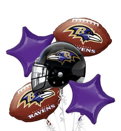 f48ea82c Baltimore Ravens Balloon Bouquet - Party City RAVENS PARTY ...