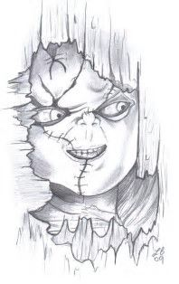 Image Result For Horror Coloring Pages Films Annabelle Scary Drawings Drawings Halloween Drawings