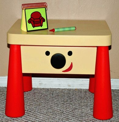 Blues Clues Side Table Drawer Steves Handy Dandy Thinking Chair Notebook