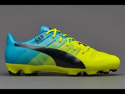 3f6179e101c5 Puma evoPOWER 1.3 Leather FG with Safety Yellow and Atomic Blue ...