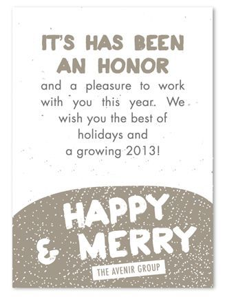 Corporate holiday cards on seeded paper winter sprinkles by corporate holiday cards reheart Images