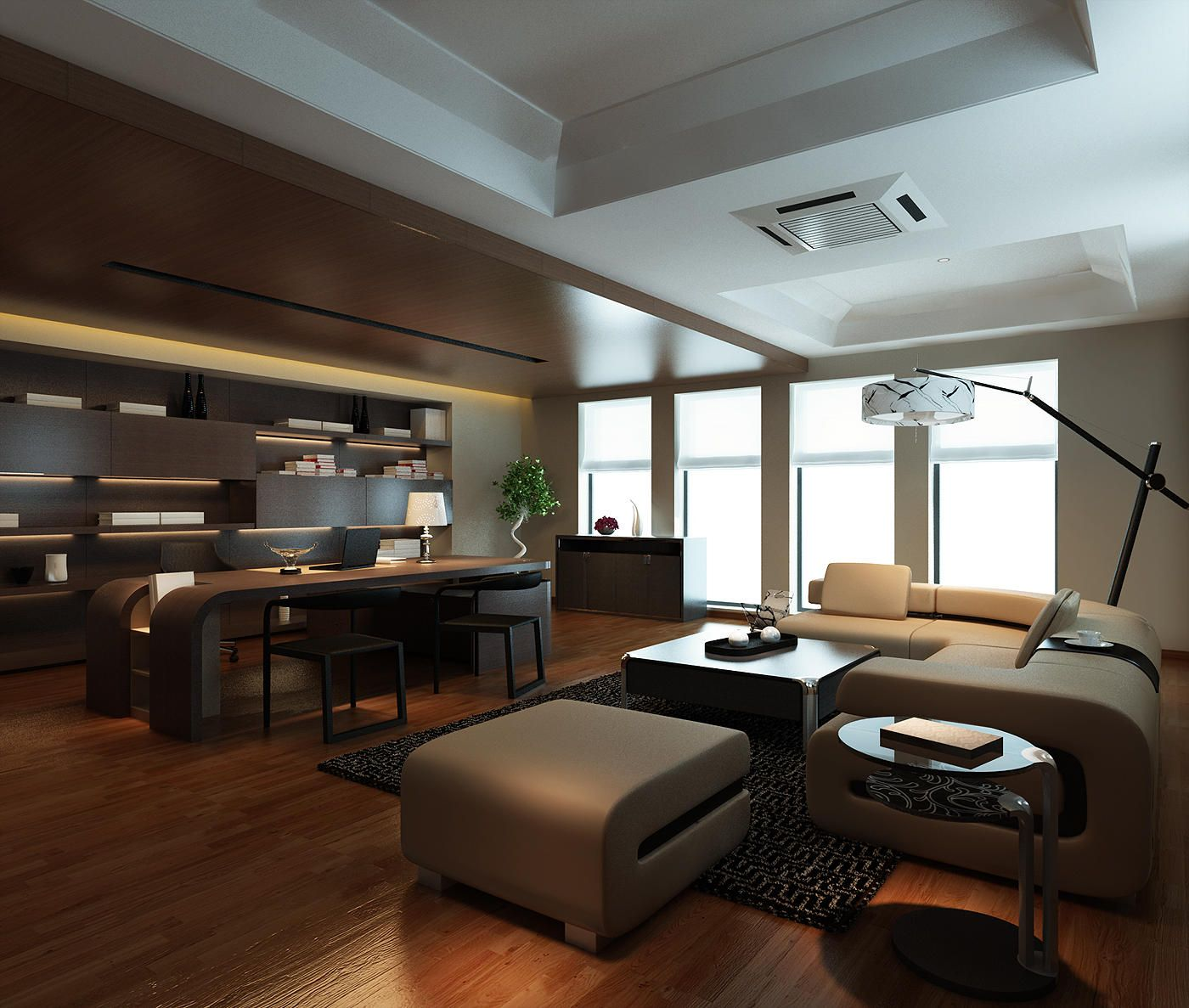 When limitless was commissioned to design this executive for One room office interior design