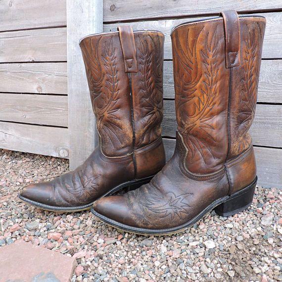 bec8c116860 Vintage 70s Acme boots / size 10 D / 1970s circle A cowboy | cowboy ...