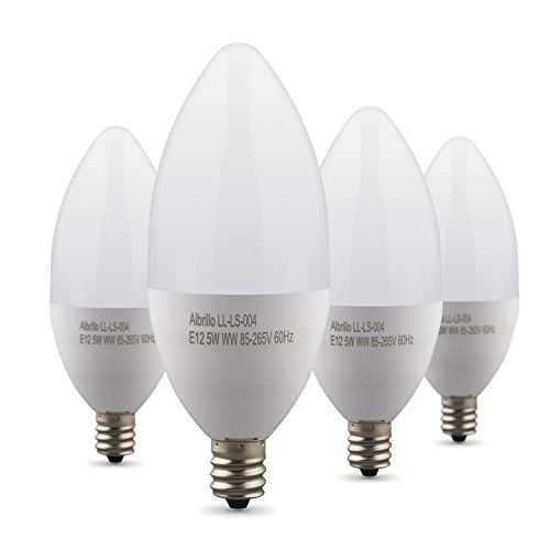 Albrillo Bulbs LED 40 Watt Replacement E12 Light Bulb Candle Lamp Chandeliers Candelabra 4 Pack #deals