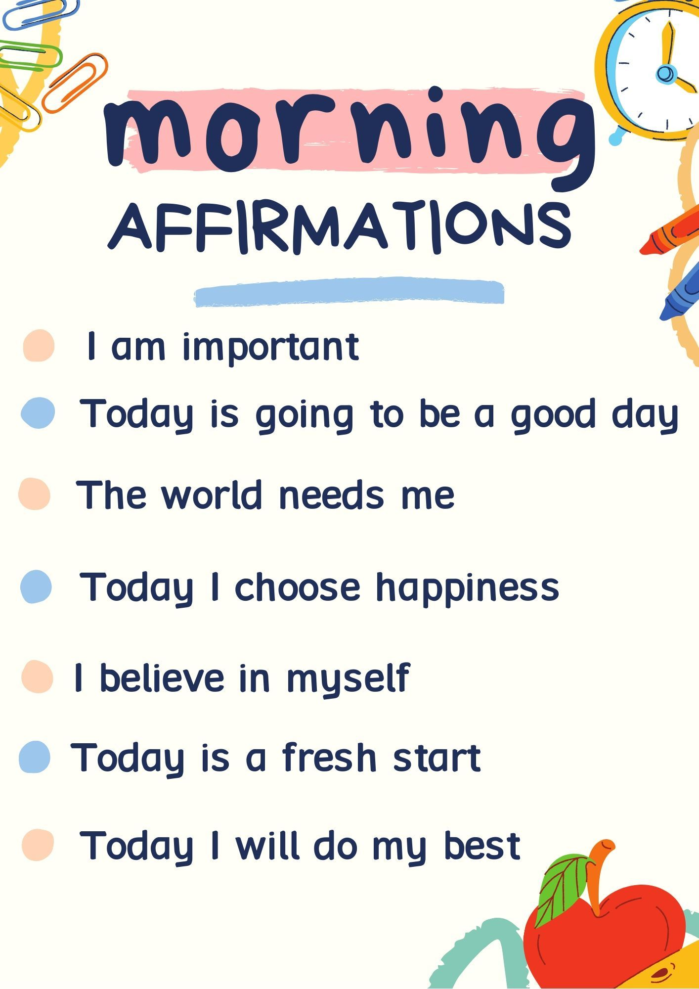 10ions5 morning affirmations