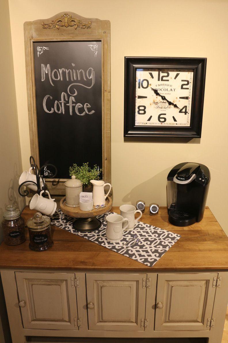 Rustic coffee station #Coffee (Coffee bar ideas) Tags ...